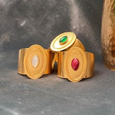 Bague JEANNE laiton doré à l'or fin