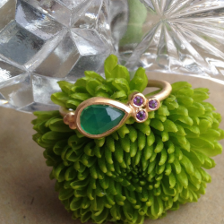 Bague GOOD Agate Verte