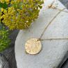 Collier médaille ronde Majorelle