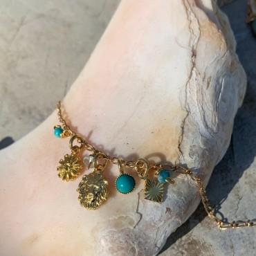 Collier turquoise ou multico GAROU